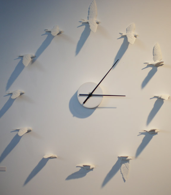 horloge hirondelles