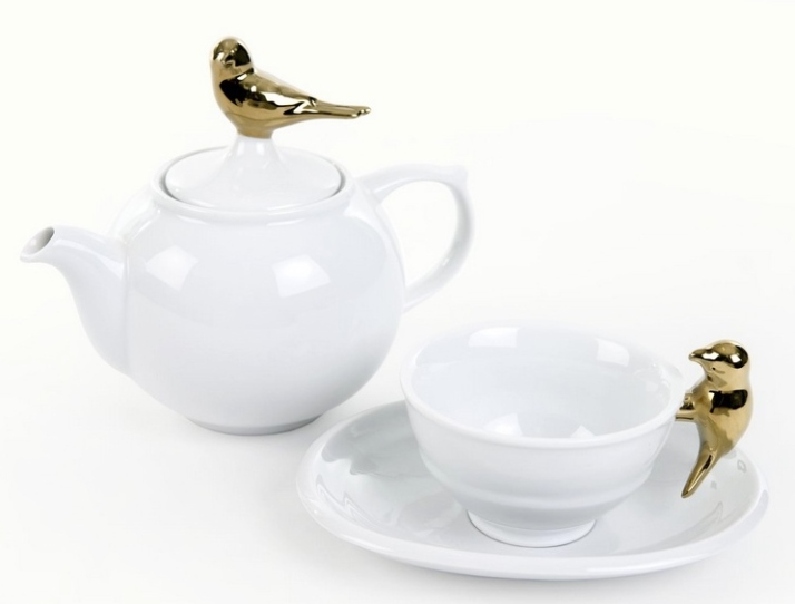white teapot and cup